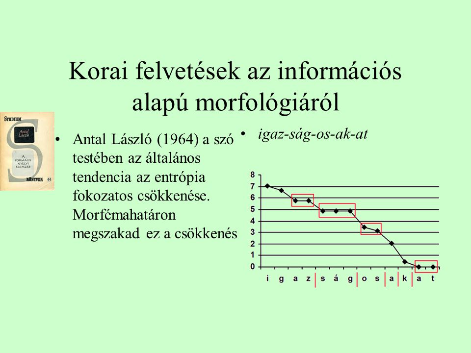 Korai felvetések az információs alapú morfológiáról