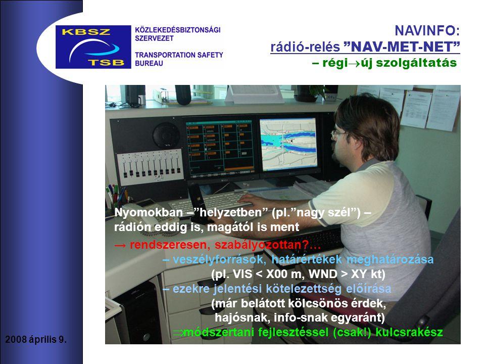 NAVINFO: rádió-relés NAV-MET-NET