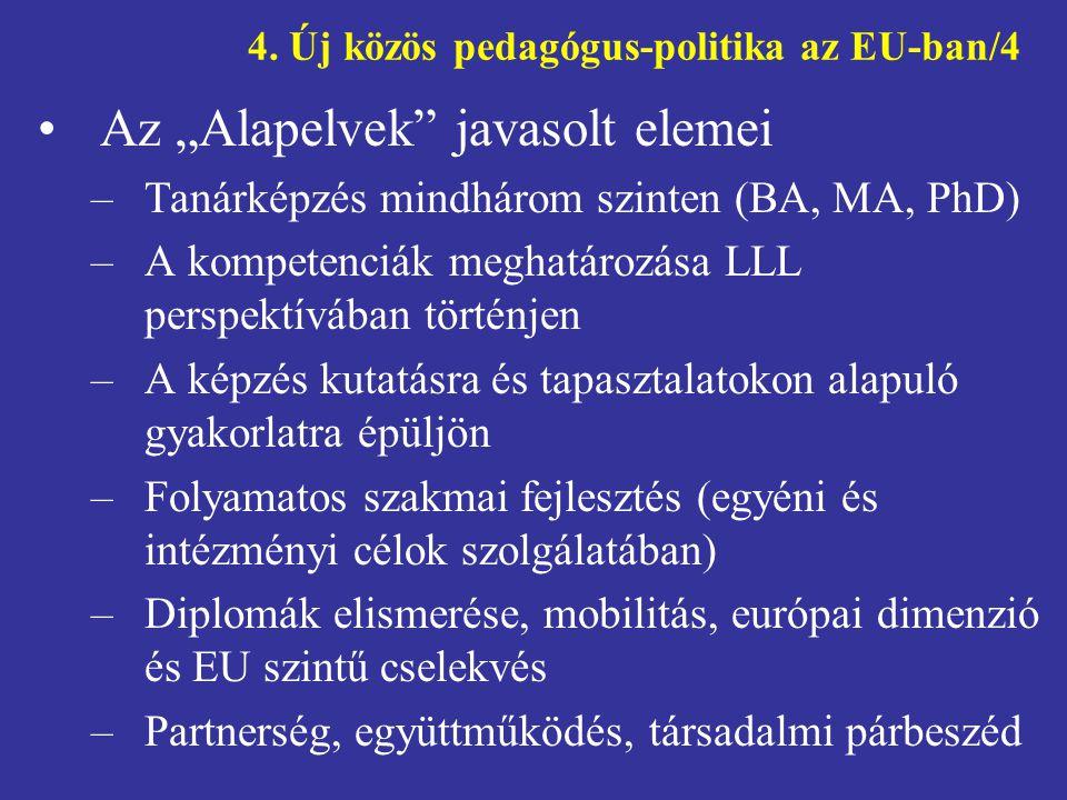 4. Új közös pedagógus-politika az EU-ban/4