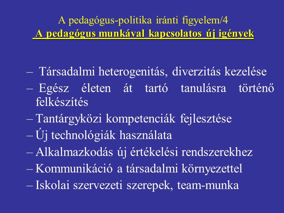 Társadalmi heterogenitás, diverzitás kezelése