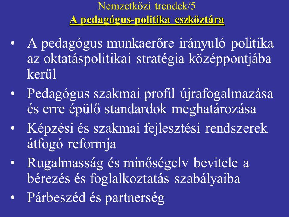 Nemzetközi trendek/5 A pedagógus-politika eszköztára