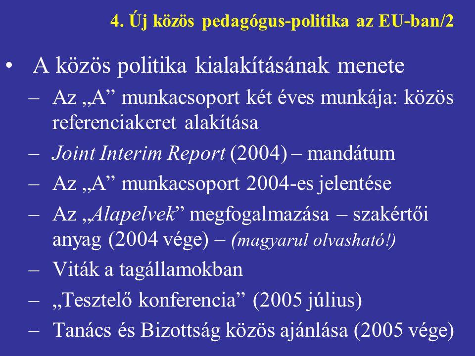 4. Új közös pedagógus-politika az EU-ban/2