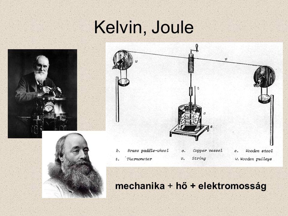 Kelvin, Joule mechanika + hő + elektromosság