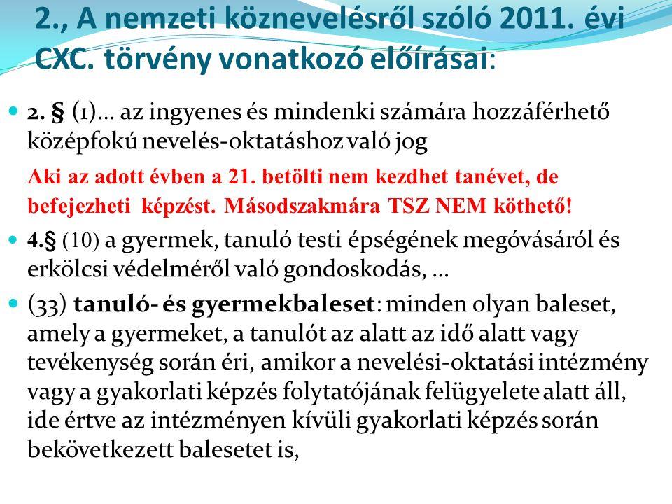 2. , A nemzeti köznevelésről szóló 2011. évi CXC