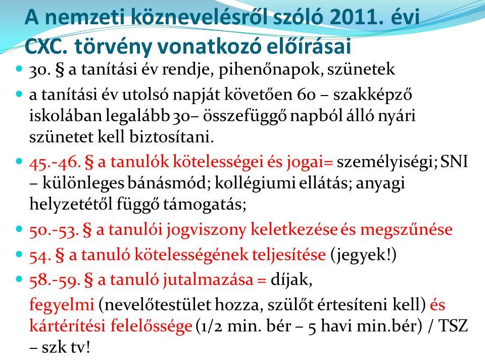A nemzeti köznevelésről szóló 2011. évi CXC