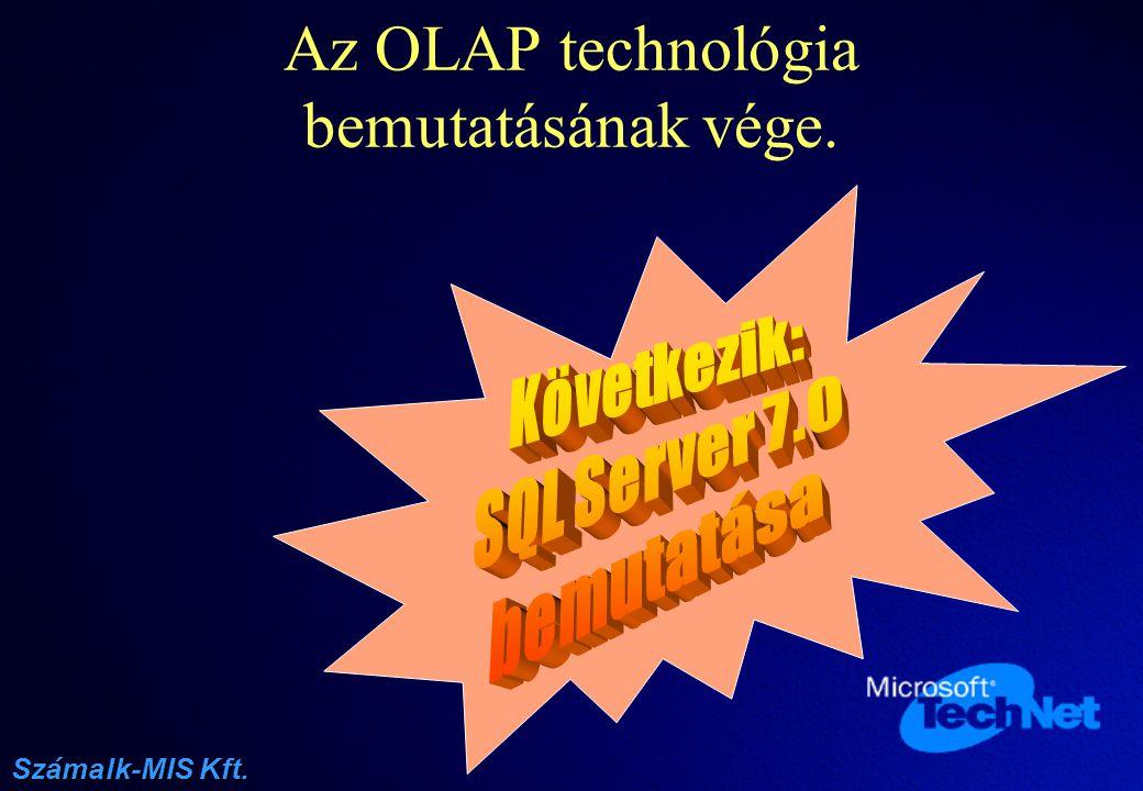 Az OLAP technológia bemutatásának vége.