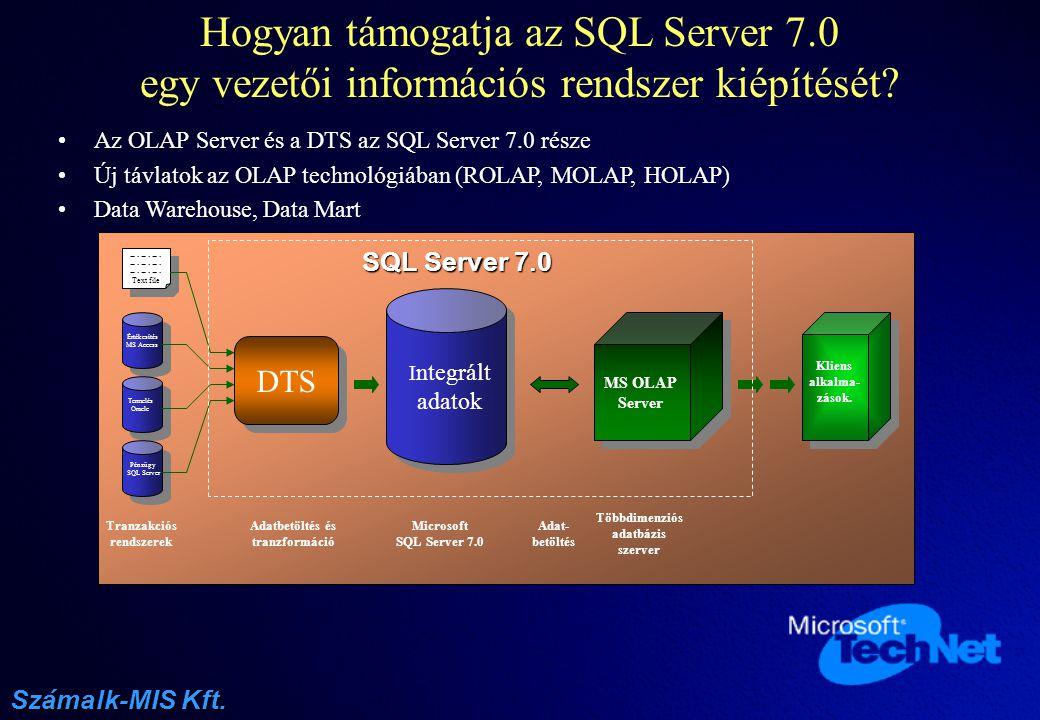 Hogyan támogatja az SQL Server 7