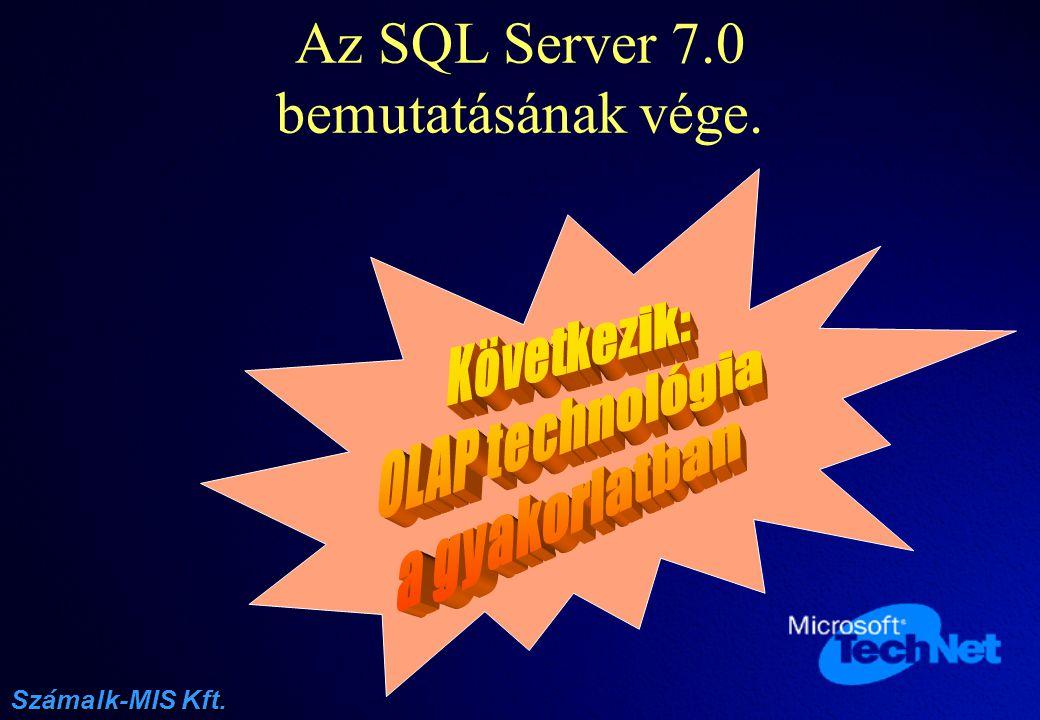 Az SQL Server 7.0 bemutatásának vége.