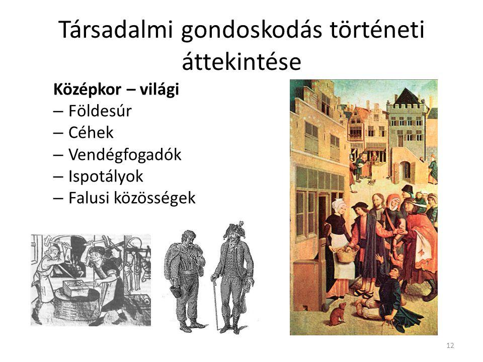 Társadalmi gondoskodás történeti áttekintése