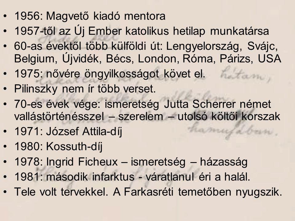 1956: Magvető kiadó mentora