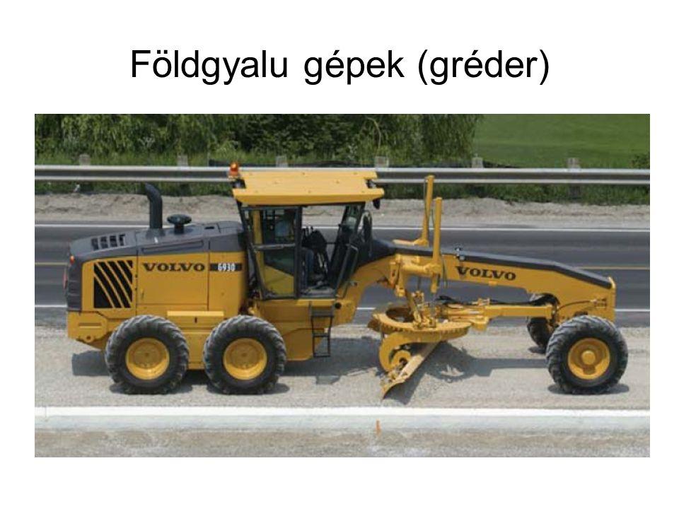 Földgyalu gépek (gréder)