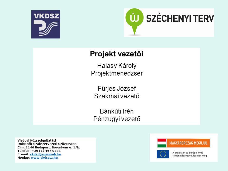 Projekt vezetői Halasy Károly Projektmenedzser Fürjes József