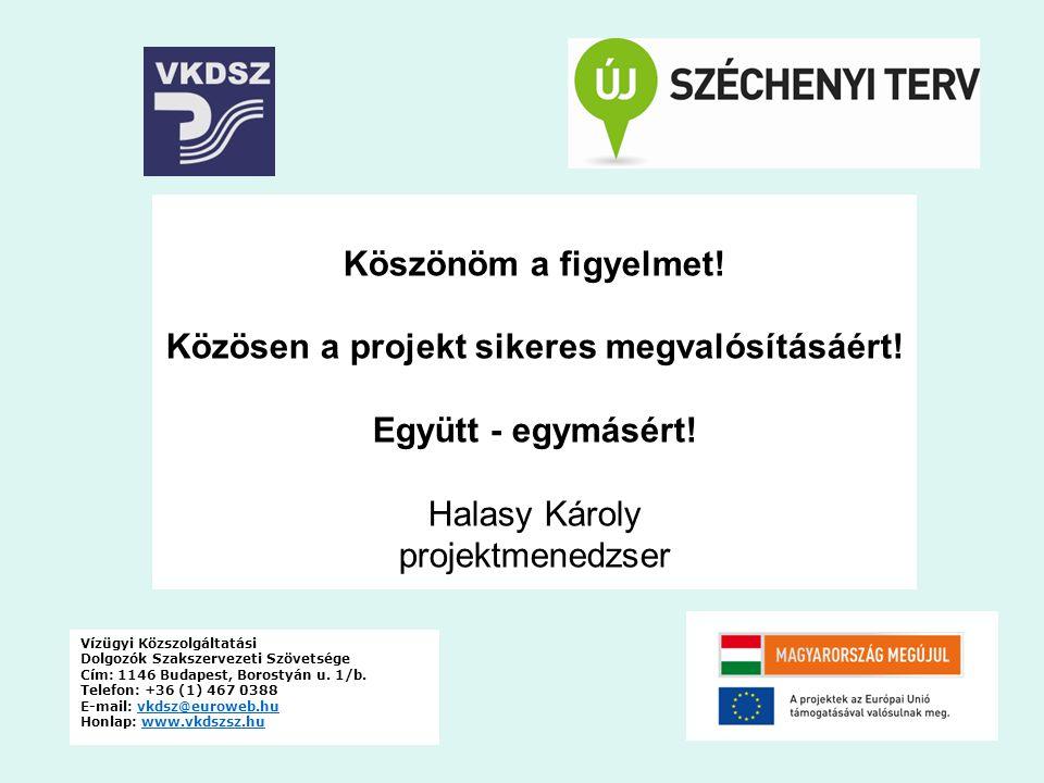 Közösen a projekt sikeres megvalósításáért!