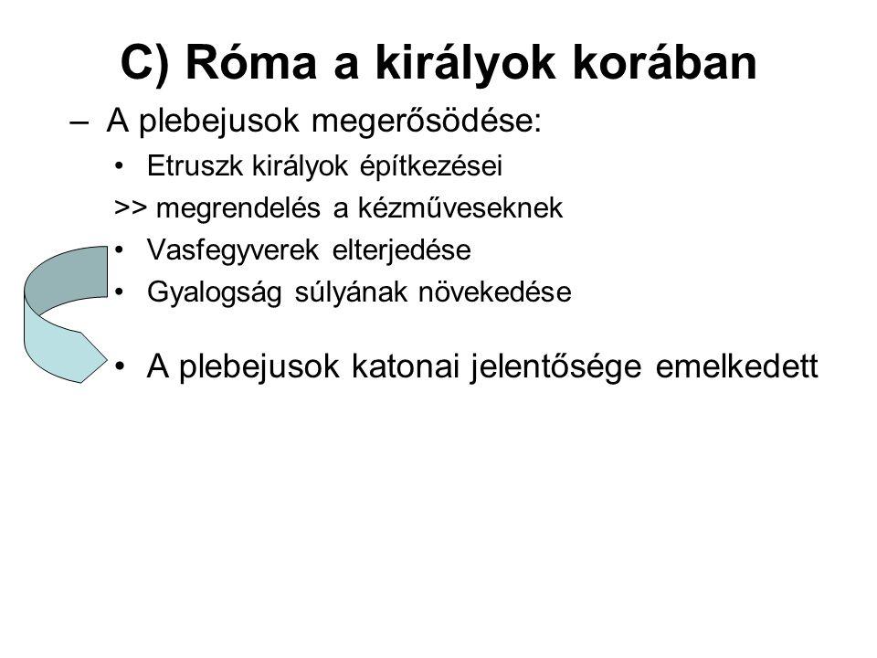 C) Róma a királyok korában