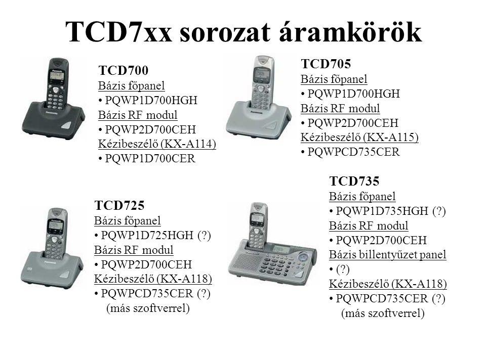 TCD7xx sorozat áramkörök