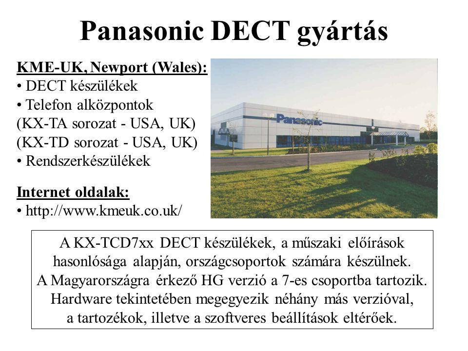 Panasonic DECT gyártás