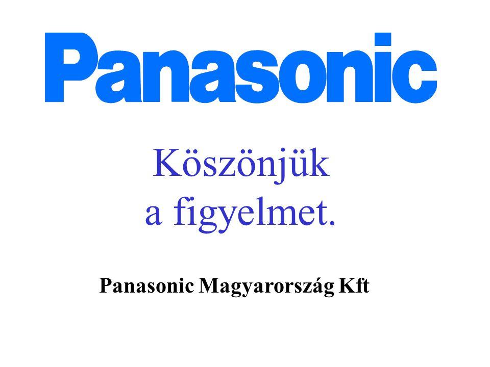 Köszönjük a figyelmet. Panasonic Magyarország Kft