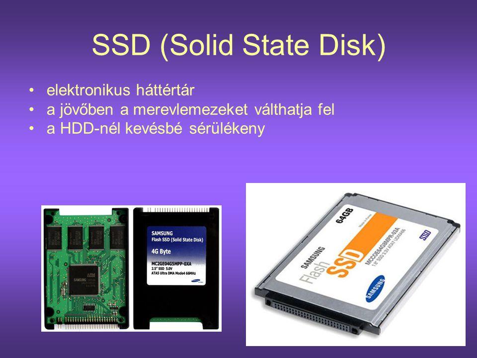 SSD (Solid State Disk) elektronikus háttértár