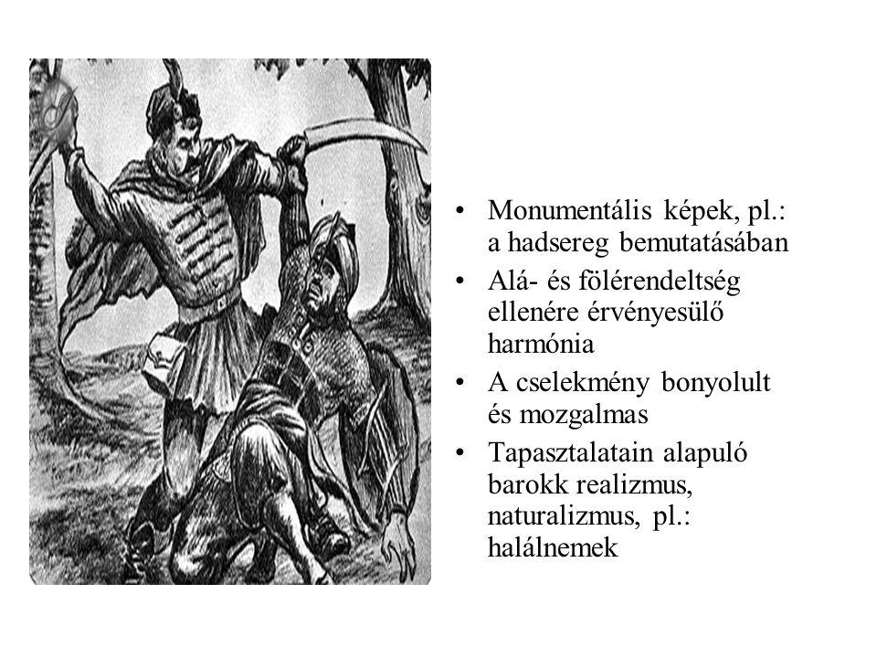 Monumentális képek, pl.: a hadsereg bemutatásában