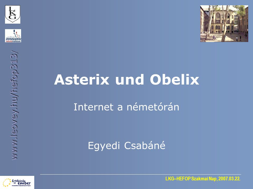 Internet a németórán Egyedi Csabáné