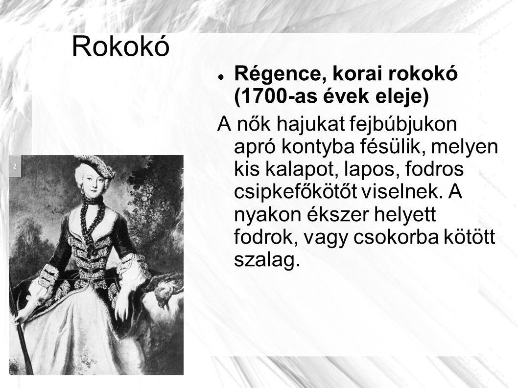 Rokokó Régence, korai rokokó (1700-as évek eleje)
