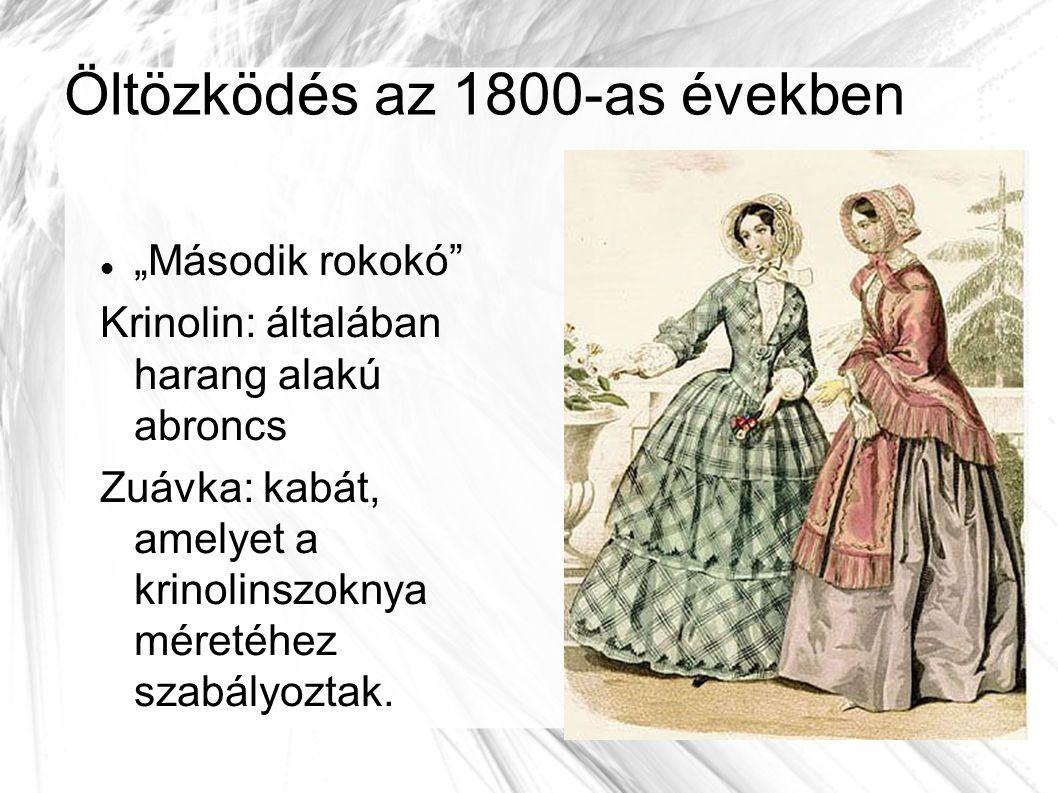 Öltözködés az 1800-as években