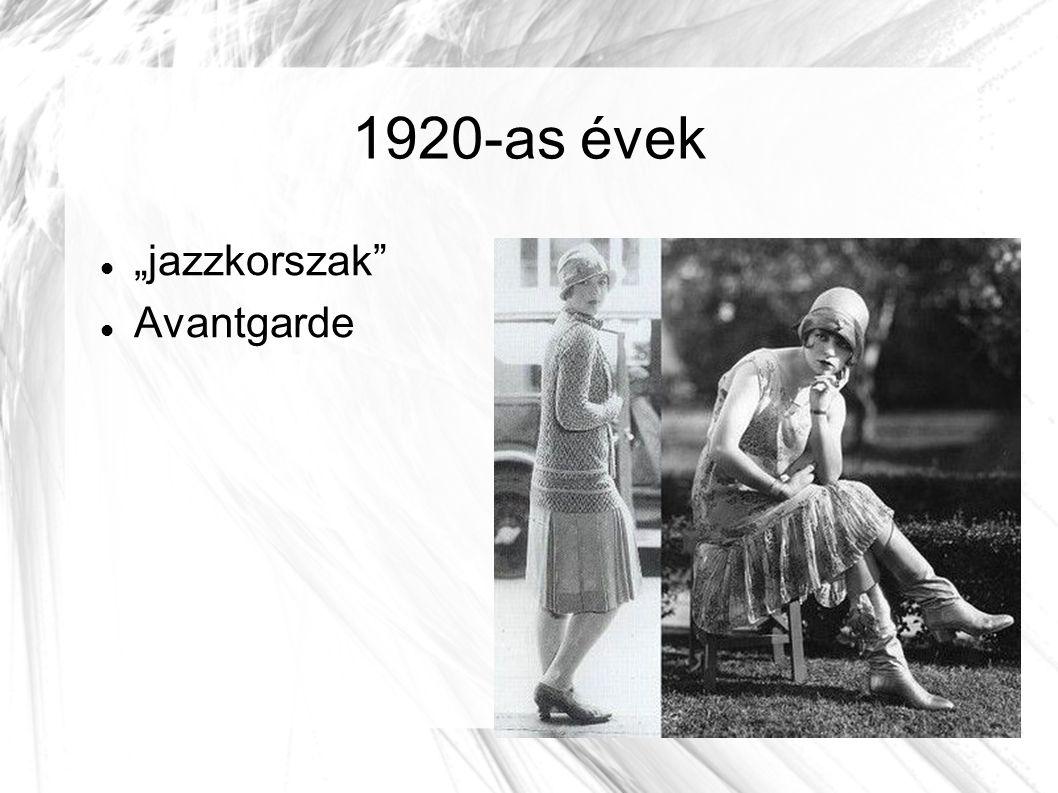 """1920-as évek """"jazzkorszak Avantgarde"""