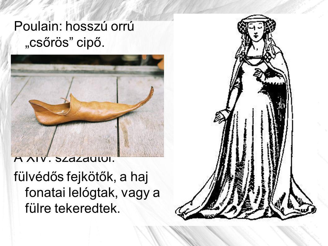 """Poulain: hosszú orrú """"csőrös cipő."""