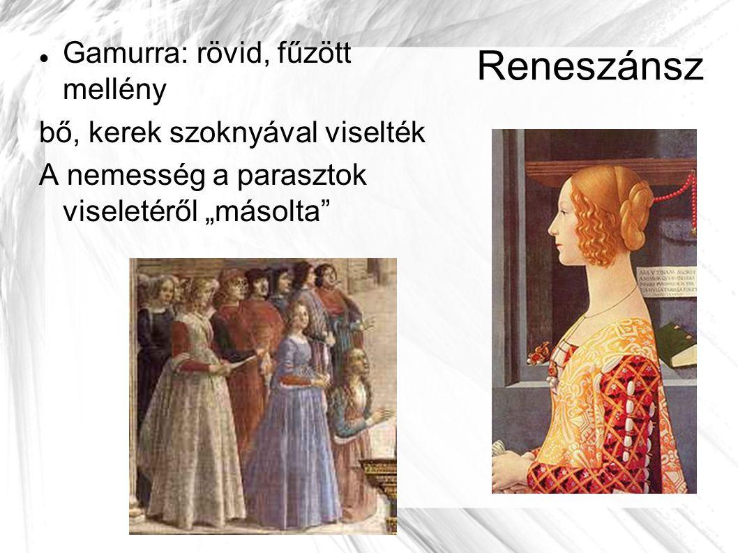 Reneszánsz Gamurra: rövid, fűzött mellény