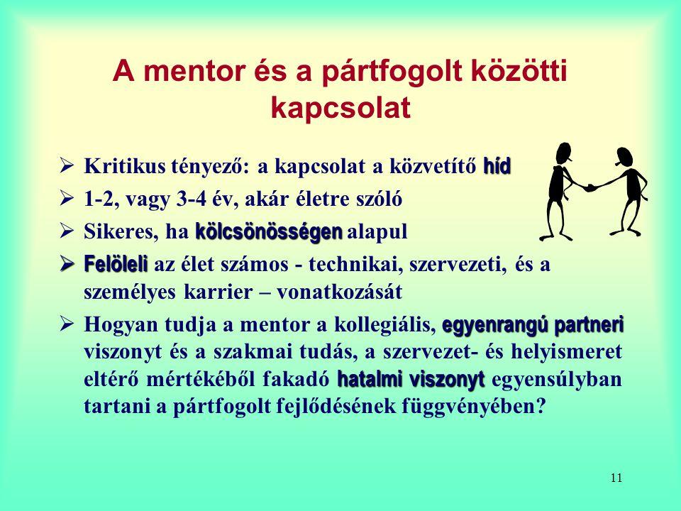 A mentor és a pártfogolt közötti kapcsolat
