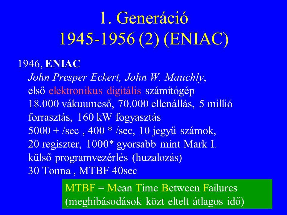 1. Generáció 1945-1956 (2) (ENIAC)
