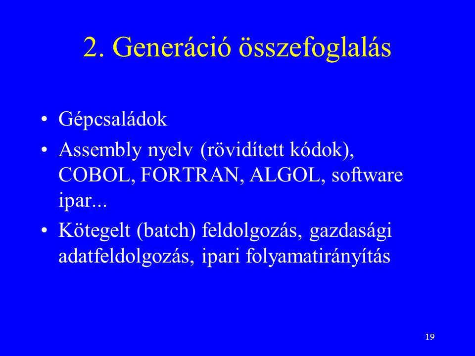 2. Generáció összefoglalás
