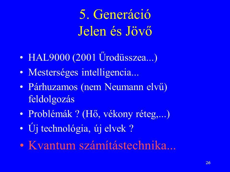 5. Generáció Jelen és Jövő