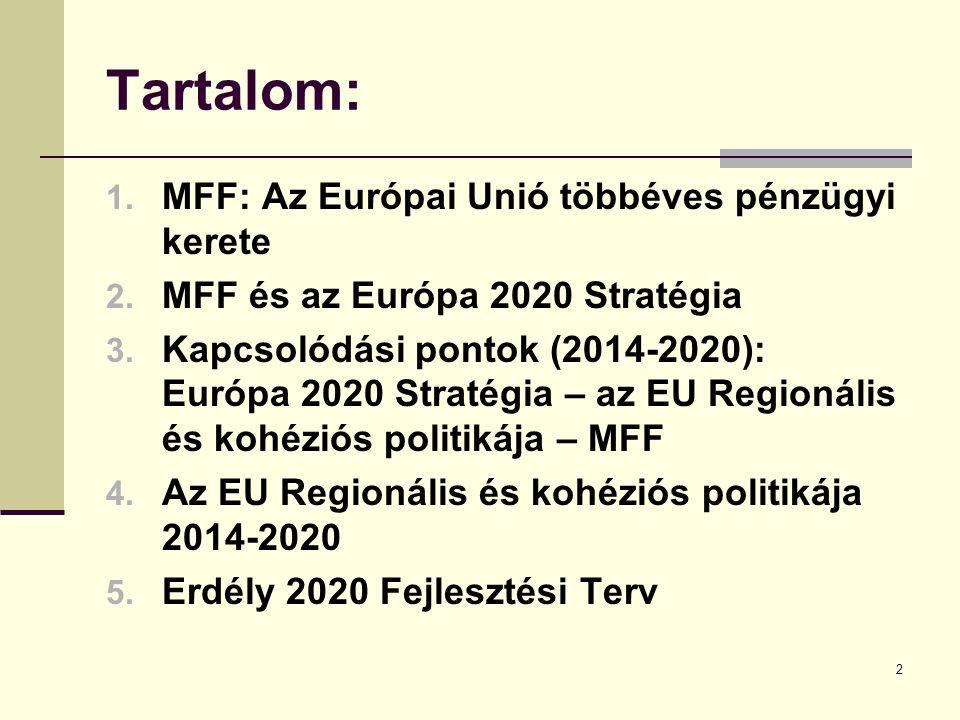 Tartalom: MFF: Az Európai Unió többéves pénzügyi kerete