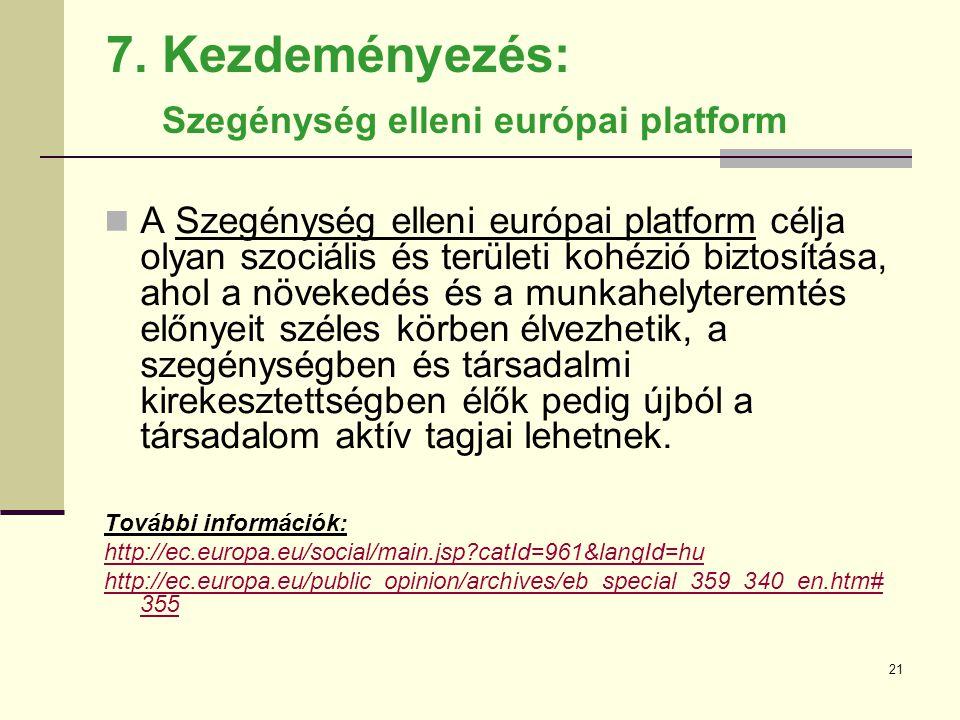 7. Kezdeményezés: Szegénység elleni európai platform
