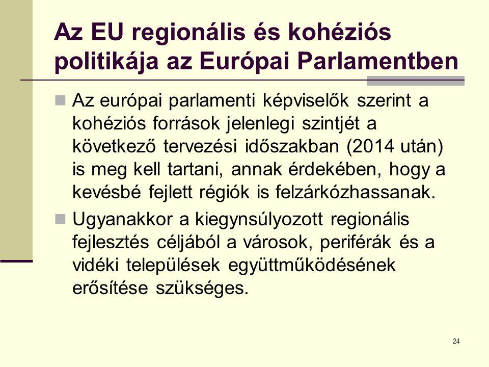 Az EU regionális és kohéziós politikája az Európai Parlamentben