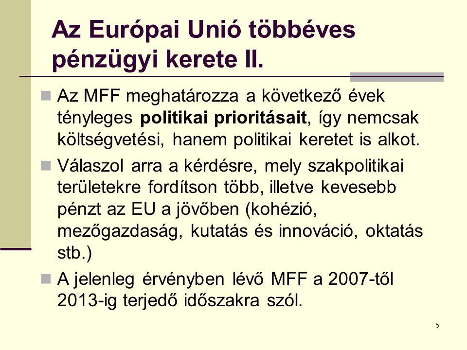 Az Európai Unió többéves pénzügyi kerete II.