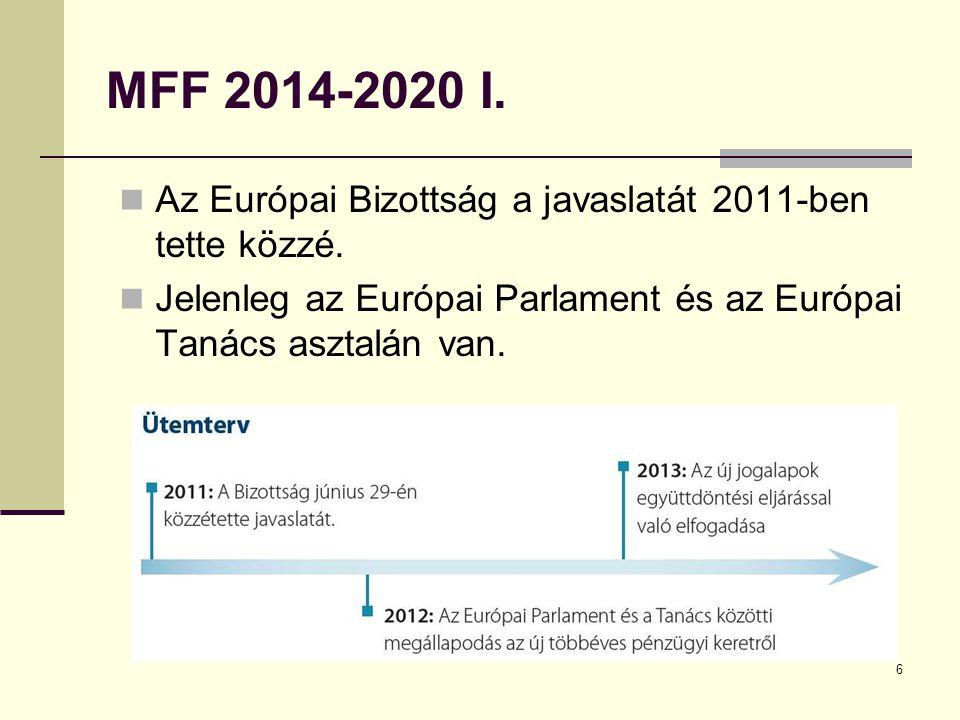 MFF 2014-2020 I. Az Európai Bizottság a javaslatát 2011-ben tette közzé.