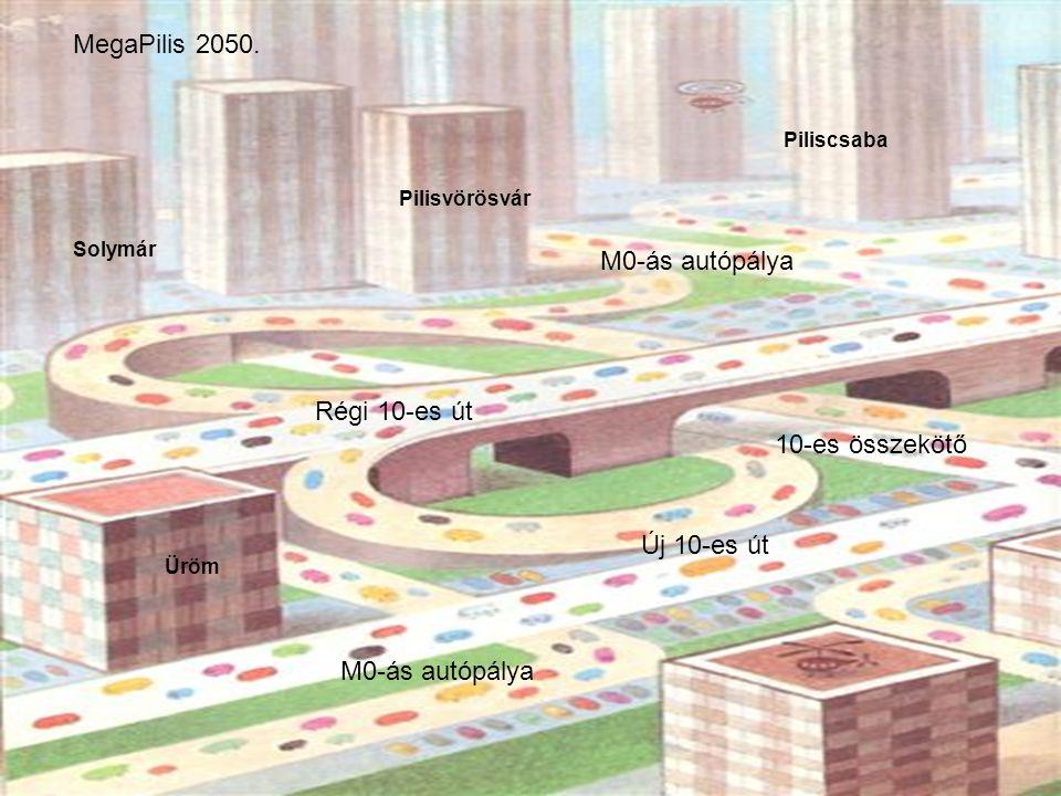 MegaPilis 2050. M0-ás autópálya Régi 10-es út 10-es összekötő