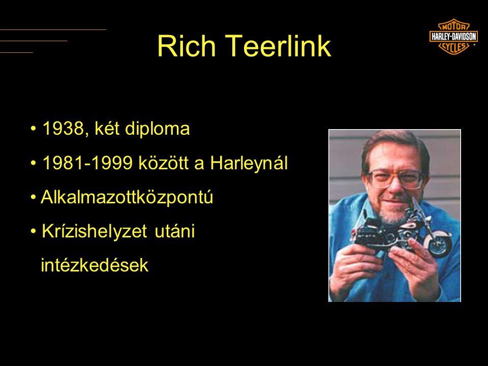 Rich Teerlink 1938, két diploma 1981-1999 között a Harleynál
