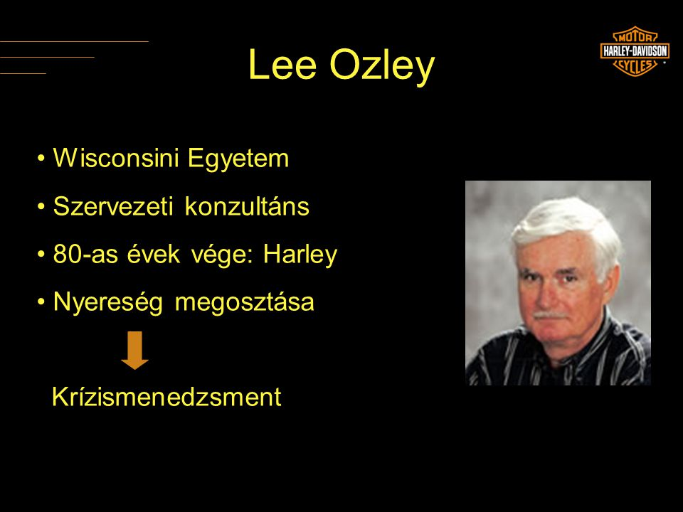 Lee Ozley Wisconsini Egyetem Szervezeti konzultáns