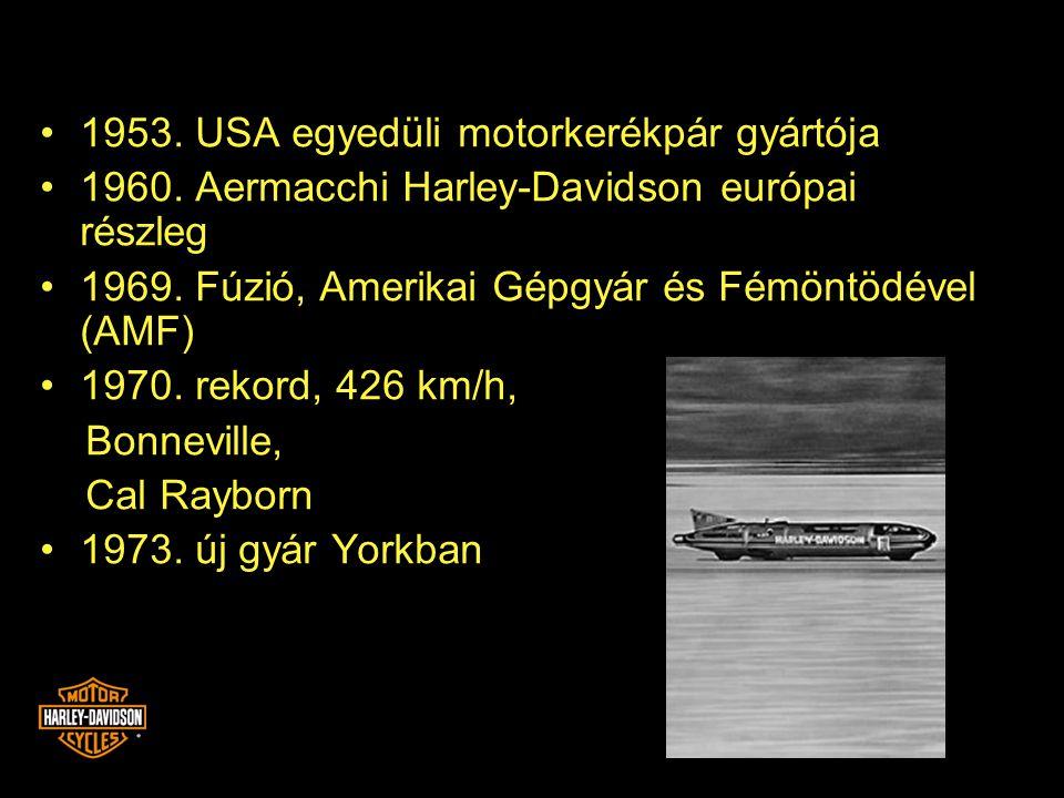 1953. USA egyedüli motorkerékpár gyártója