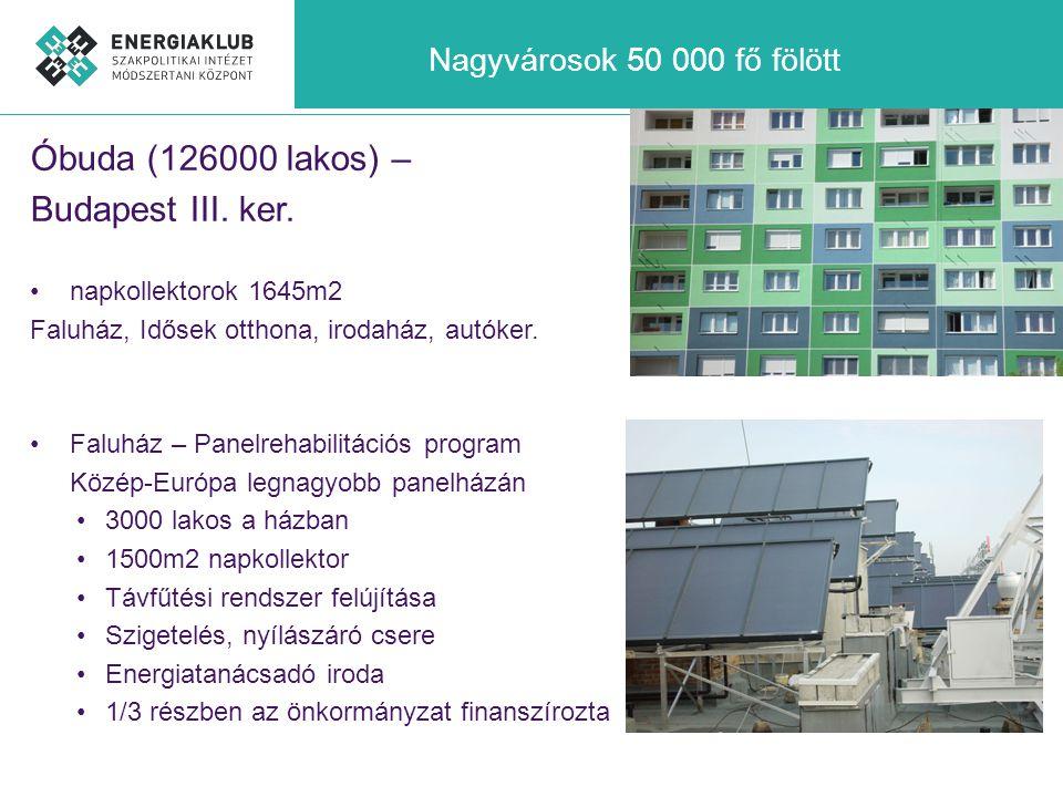 Óbuda (126000 lakos) – Budapest III. ker. Nagyvárosok 50 000 fő fölött