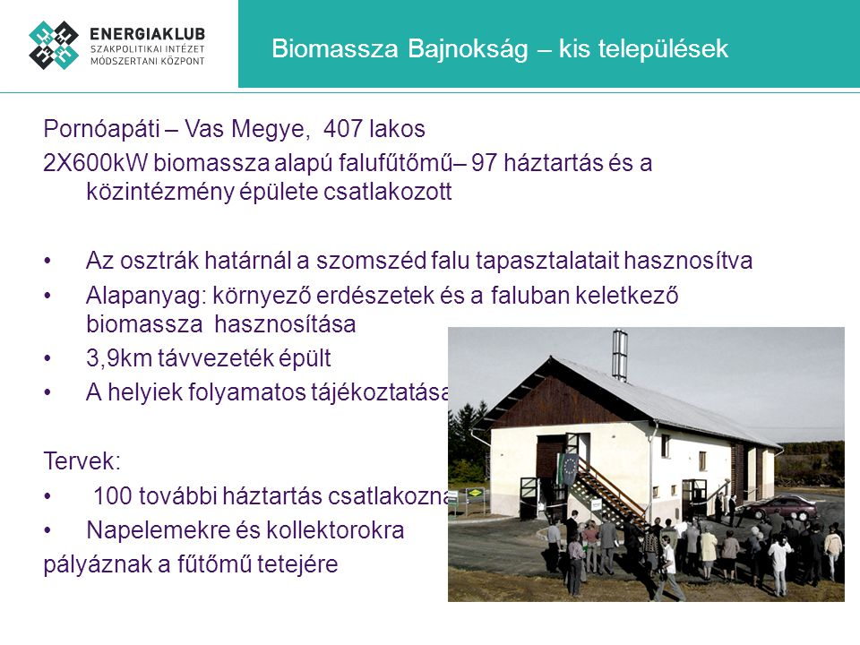 Biomassza Bajnokság – kis települések