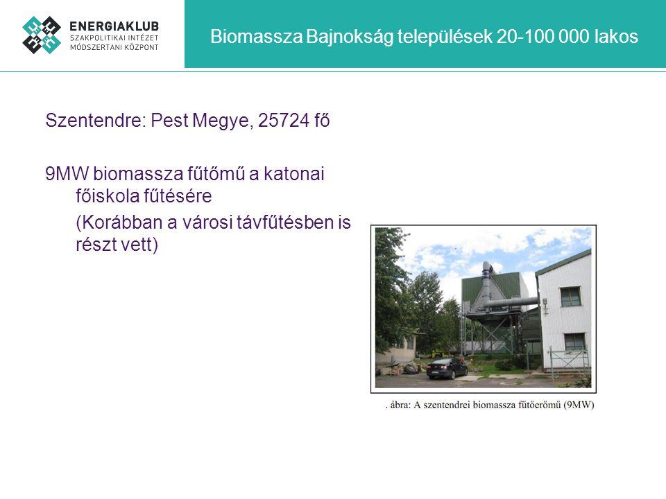 Biomassza Bajnokság települések 20-100 000 lakos