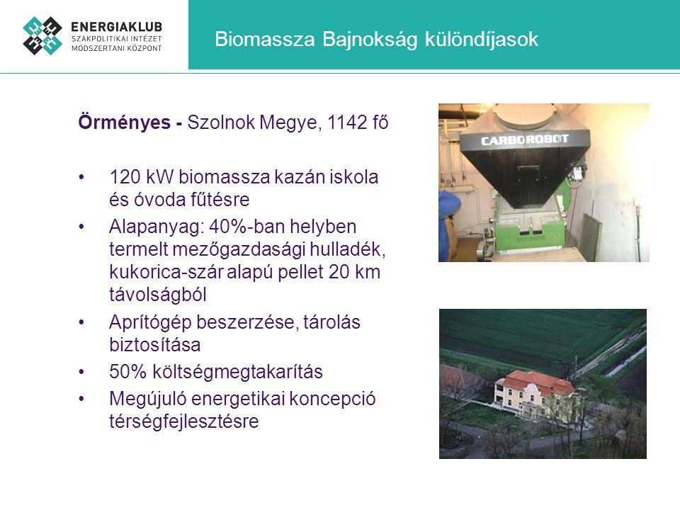 Biomassza Bajnokság különdíjasok