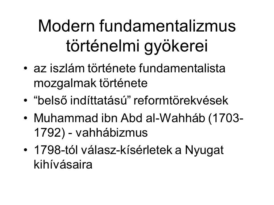 Modern fundamentalizmus történelmi gyökerei