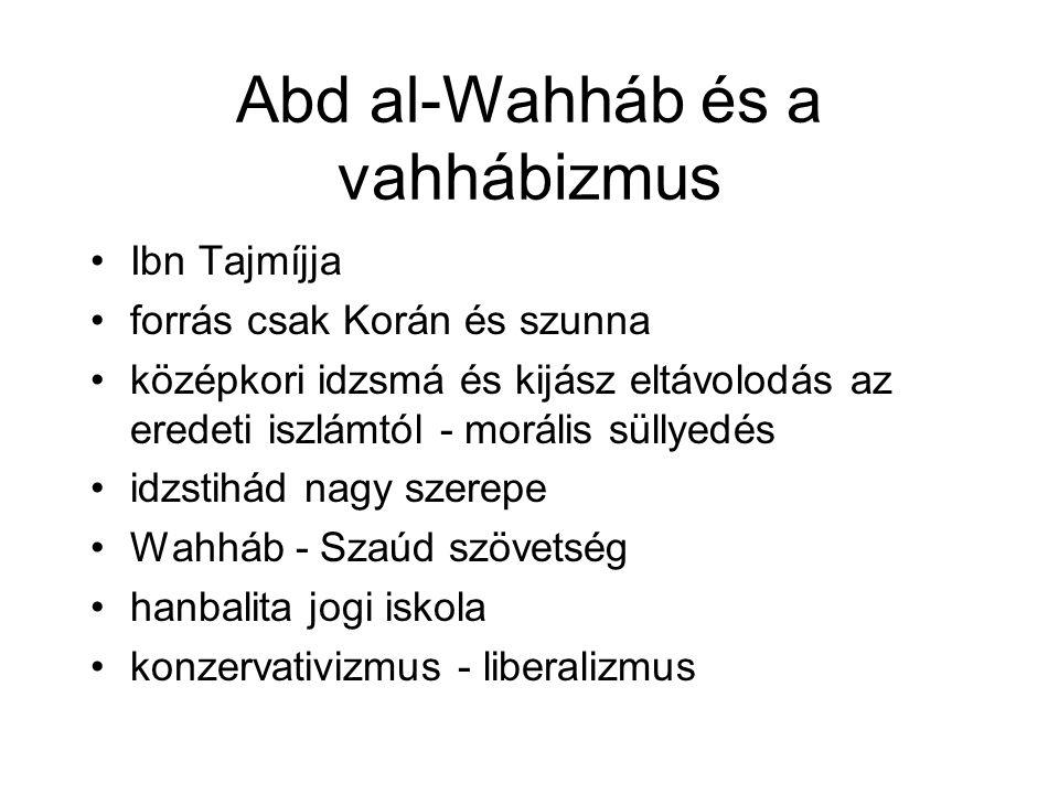 Abd al-Wahháb és a vahhábizmus