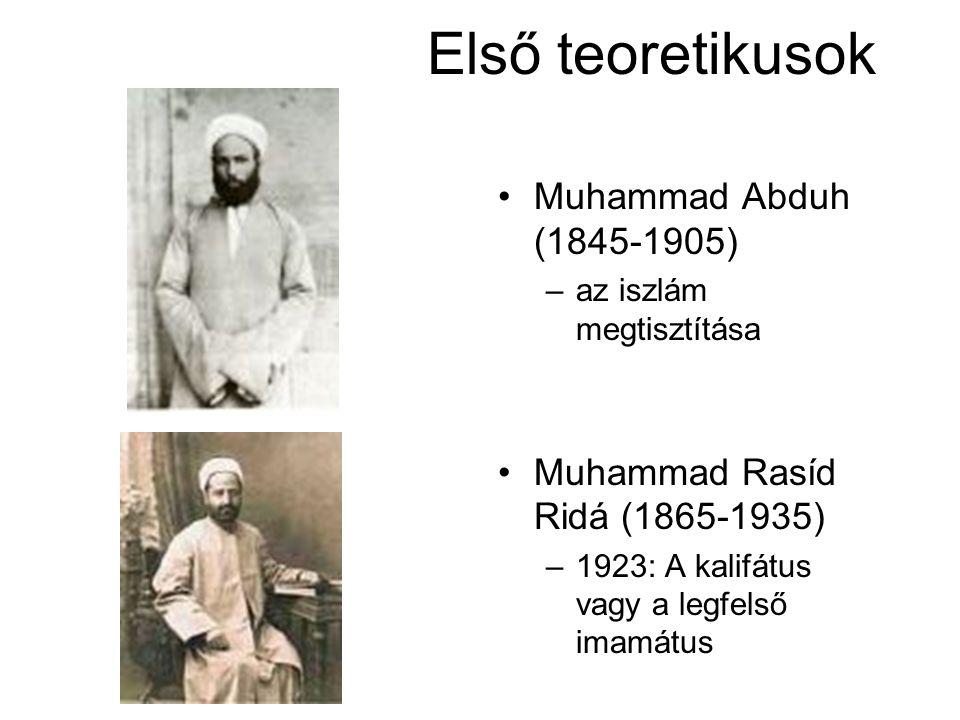Első teoretikusok Muhammad Abduh (1845-1905)