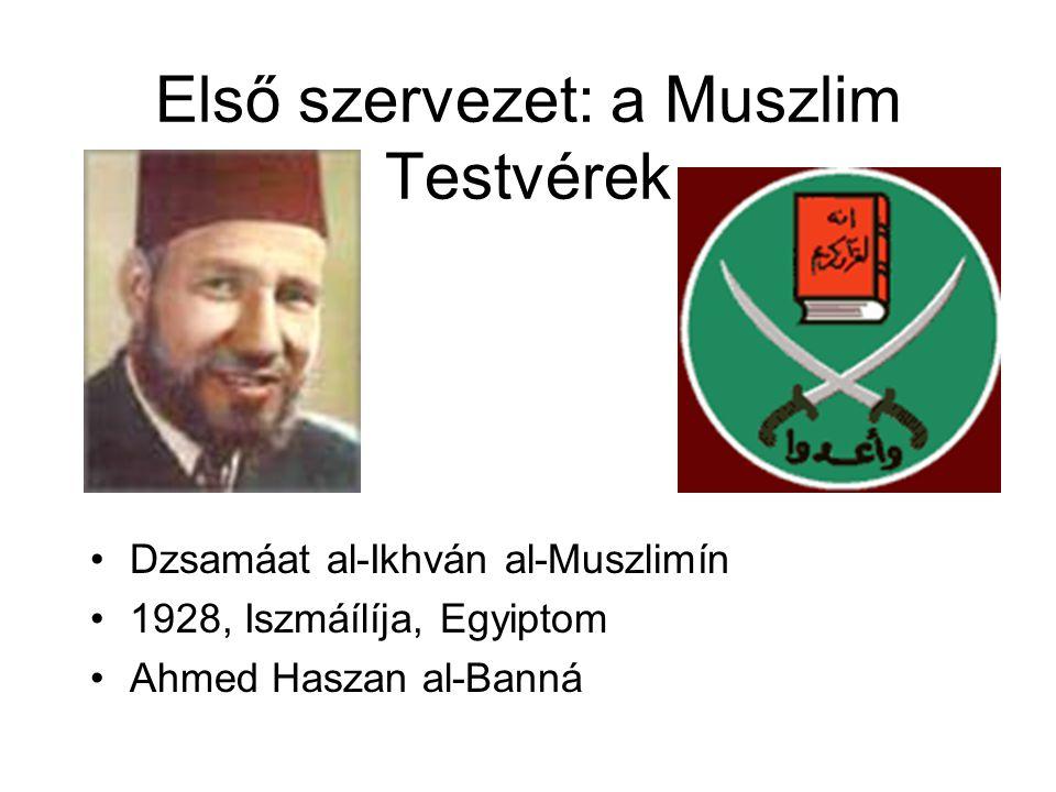 Első szervezet: a Muszlim Testvérek